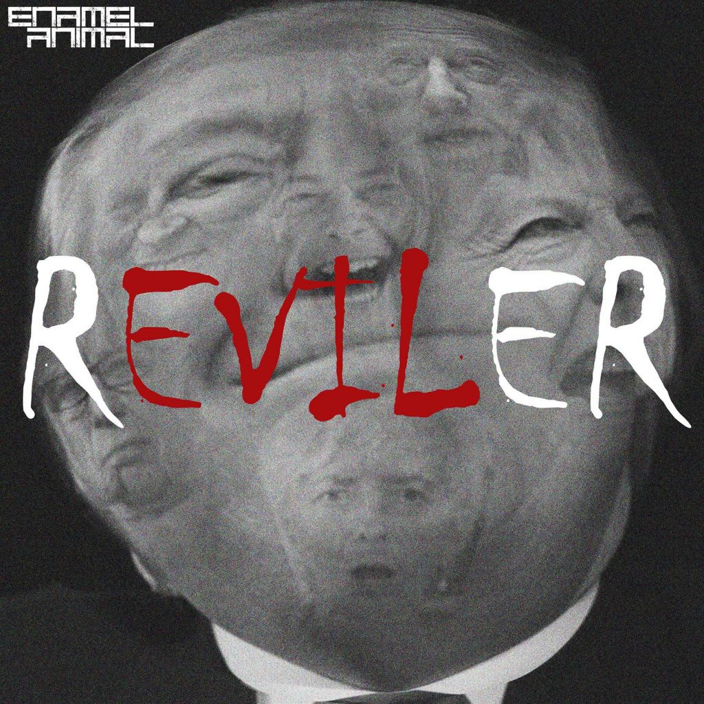 Enamel Animal Reviler single release artwork Holier Than Thou Records