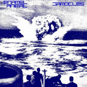 Grunge Rock Metal UK bandEnamel Animal Damocles single release coverart Holier Than Thou Records