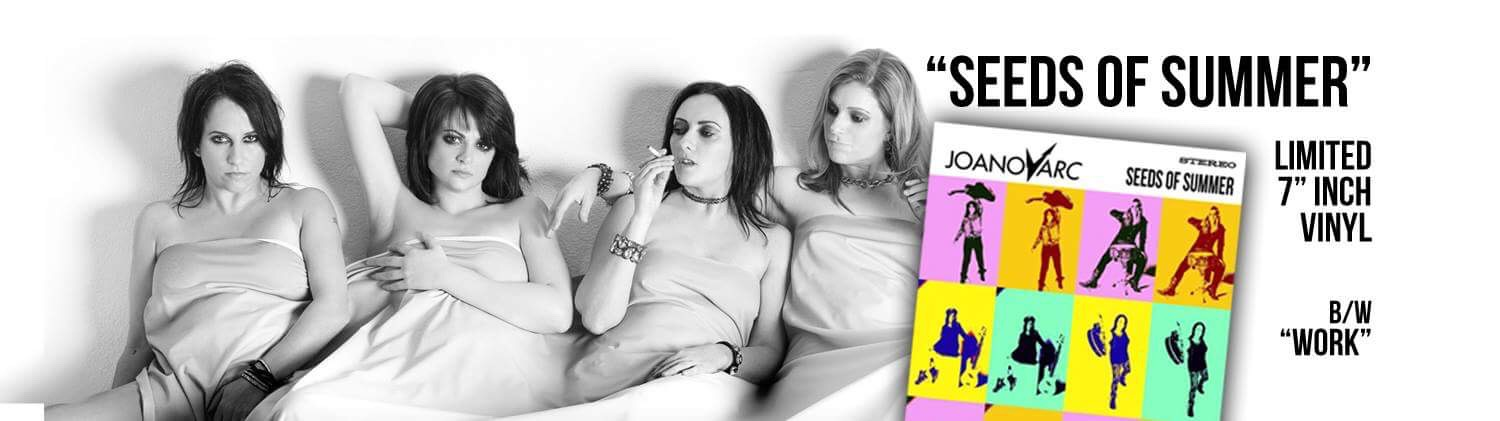 JOANovARC single release banner UK radio promotion Holier Than Thou Records