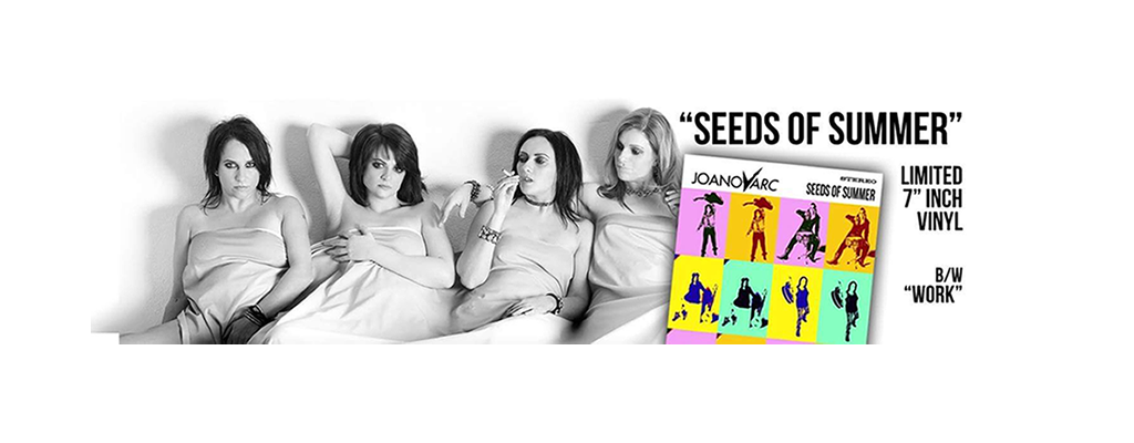 """'Seeds of Summer' by JOANovARC limited release edition 7"""" taken from their critically acclaimed debut album 'Ride of your Life'"""