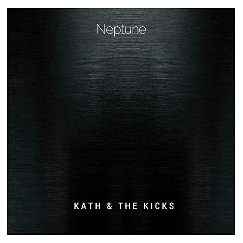 Kath and The Kicks coverart for their EP Neptune image a figure of a person looking through the dark